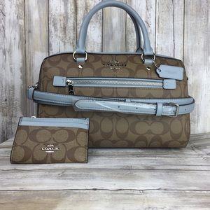 NWT 2pc Coach Matching Bag Wallet & Lanyard set